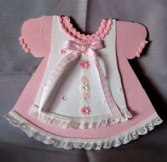 pinafore card for baby girl
