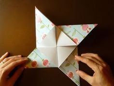 Beautiful Origami Envelope - Folding Instructions and Video Origami Envelope, Origami Box, Origami Easy, Envelope Tutorial, Paper Crafts Magazine, Origami Diagrams, Handmade Birthday Cards, Handmade Cards, Square Envelopes