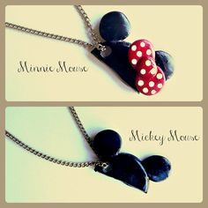 Hey, I found this really awesome Etsy listing at https://www.etsy.com/listing/112849324/mickey-and-minnie-mouse-hat-necklace