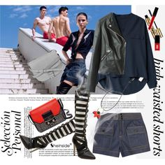 Hot Trend: High-Waisted Shorts by svijetlana on Polyvore featuring moda, Chloé, Kate Spade, Little Liffner, Marni, Witchery and Jin Soon