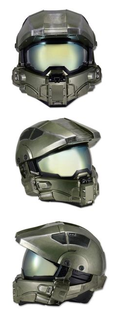 Street Legal Halo Master Chief Motorcycle Helmets  This is the Master Chief motorcycle helmet coming soon from NECA (National Entertainment Collectibles Association). It ships this June for an undisclosed amount of money  and meets or exceeds all Department of Transportation safety standards, which is important if you care about your head.  Read More: http://geekologie.com/2015/02/street-legal-halo-master-chief-motorcycl.php