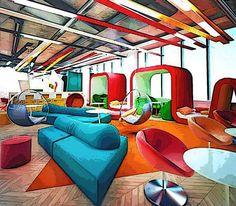 Neue Büros braucht das Land:  Neuartige, witzig designte Büros sind einfach attraktiver.
