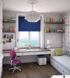 Study Room Decor, Interior Design Bedroom, Girl Bedroom Decor, Home Room Design, Bedroom Interior, Interior Design Living Room, Home Office Decor, Home Bedroom, Small Room Design