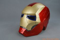 Tony Stark Iron Man Motorcycle Helmet  with LED Light.  $109 on Amazon