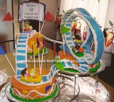 roller coaster cakes, images - Google Search