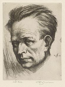 Tavik Frantisek Šimon/himself (1932), etching, 155x115 mm.