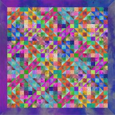 Paw Paw's Quilt by Ricky Timms - I like how he took the Jacob's Ladder block and tweaked the color layout.  It gives a much more subtle, yet intriguing, effect.  Not sure if I'll ever make a quilt with that block again after the king-size one I already made, but still...