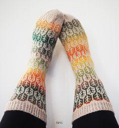 Kirjoneulesukat Autumn socks Fair Isle knitting Fair Isle Knitting, Leg Warmers, Autumn, Fall, Fall Season, Ravelry