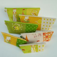 Heather Ross fabrics on 6 beautiful pouches!!