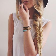 Fishtail braid is a perfect go-to spring style