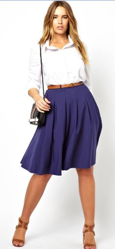Midi Skirt With Belt by Asos Curve
