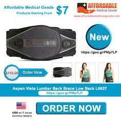 Buy Aspen Vista Lumbar Back Brace Low Back L0627 only at $110.00 only anywhere in USA. This Aspen  is available at affordable price with high quality. To order this product just click www(Dot)affordablemedicalgoods(Dot)com