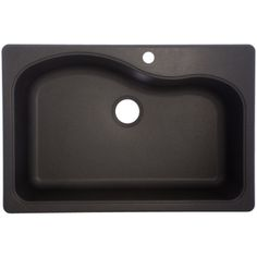 "Franke USA�Single-Basin Drop-in or Undermount Granite Kitchen Sink-for 36"" base cab undermount option"