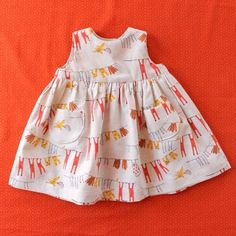 free pattern for 0-3 months:  Little Geranium Dress.  other free baby patterns on this site.