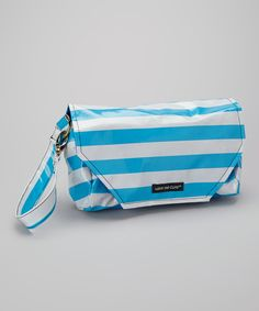 Take+a+look+at+the+Me+Cute+Blue+Stripe+I've+Got+the+Blues+Diaper+Clutch+on+#zulily+today!