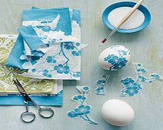DYI:  Easter Egg Craft made from Paper Napkins.
