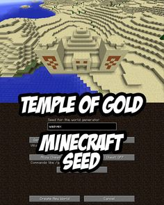 Temple seed with 18 gold items to grab at spawn. Minecraft PC/Mac Seed: wasvex (or Minecraft Cheats, Minecraft Memes, Minecraft Projects, Minecraft Designs, Minecraft Stuff, Cool Minecraft Banners, Minecraft Posters, Minecraft Comics, Cool Minecraft Seeds