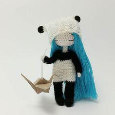 Amigurumi panda girl doll by Maria Karaeva @ami_dolls. (Inspiration).