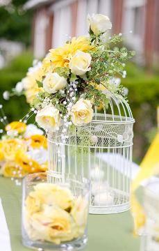 Yellow-Summer Birdcage-Centerpiece