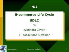 MIS: SDLC - Software Development Life Cycle - E COMMERCE Presentation by Jyotindra Zaveri for education. Study Materials, Life Cycles, Software Development, Ecommerce, Presentation, Cycling, Bicycling, E Commerce, Biking