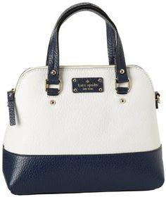 Amazon.com: Kate Spade New York Grove Court-Maise Satchel,Cream/Navy,One Size: Clothing