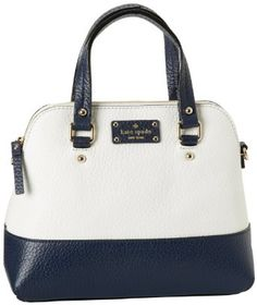 Amazon.com: Kate Spade New York Grove Court-Maise Satchel,Cream/Navy,One Size: Clothing