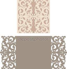 Descargar - Plantilla de sobres para invitación de boda del corte del laser — Ilustración de stock #115711072
