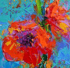 Peony flowers art painting