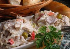 ,,Rybí,, salát z králíka | NejRecept.cz Potato Salad, Salads, Potatoes, Snacks, Dishes, Meat, Chicken, Ethnic Recipes, Soups