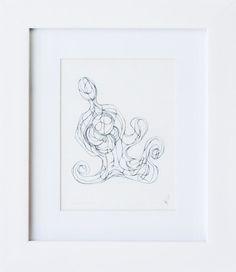 Estudio #2   Grafito / papel   26 x 23 cm [con marco]   2014