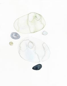 Beach stones 2 Watercolor, akvarel, watercolor art, art