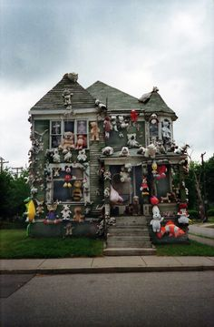 imaginary friends, crazy cats, bears, haunted houses, stuff animals, dots, detroit, crazy cat lady, abandoned houses