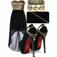 Nice going out outfit Dressy Dresses, Cute Dresses, Party Dresses, Summer Dresses, Chic Outfits, Pretty Outfits, Ladies Outfits, Black High Low Skirt, What To Wear Today