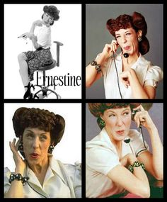 Lily Tomlin as Ernestine, the telephone operator - hilarious!