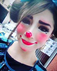 Halloween Clown, Halloween Make Up, Halloween Face Makeup, Female Clown, Cute Clown, Makeup Supplies, Clown Faces, Clowning Around, Clown Makeup