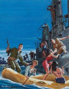 Mort Kunstler # Pulp magazine # men's magazine # World War II