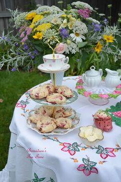 "Bernideen's Tea Time Blog: STRAWBERRY BUTTERMILK SCONES FOR ""Tea In The Garden"""