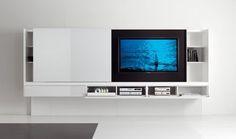 Moderne, lackierte Wohnwand NEWIND by O.Buratti & G.Buratti Acerbis International