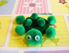 Slow and steady wins the race! This pom pom turtle is a hit with kids.