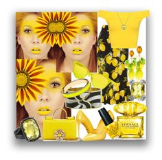 """""""In Love With Yellow..."""" by kimberlyd-2 ❤ liked on Polyvore featuring Dolce&Gabbana, OPI, Versace, WearAll, David Yurman, Gucci, Italia Independent, Asch Grossbardt, CC SKYE and vintage"""