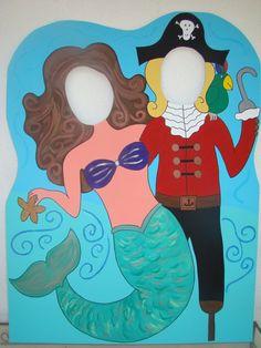Pirate mermaid photo cutout