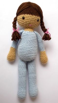 Baba figura maradék fonalból - Amigurumi és horgolás Free Crochet, Smurfs, Crochet Patterns, Teddy Bear, Dolls, Knitting, Amigurumi Minta, Blog, Animals