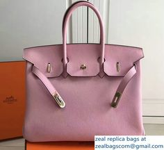 Hermes Clemence Leather Birkin Bag Pink with Gold Hardware Birkin 25, Hermes Birkin, Luxury Bags, Large Bags, Gold Hardware, Pink, Leather, Hermes Handbags, Carry All Bag