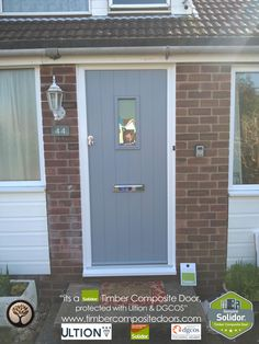 Solidor Timber Composite Doors 12 Months Interest Free Credit by Timber Composite Doors Real Pictures, Real Homes, Real Doors, Real Solidor a small selection of fitted Solidor Timber Composite Doors installed and fitted by ourselves throughout the UK. Cottage Front Doors, Front Door Porch, Black Front Doors, Front Doors With Windows, Cottage Door, House Front Door, Upvc Windows, Grey Doors, Composite Front Doors Uk