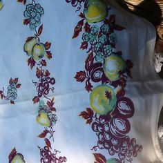 Vintage Tablecloth fruit  leaves Fall Cottage berries by raggedy10, $21.00