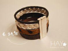 Armband gemaakt van verschillende materialen | de vier-in-één band