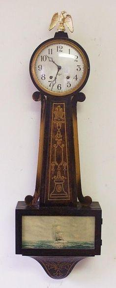 Banjo Antique Wall Clock Grandfather Clocks Howard Miller Hermle Clock ...