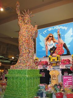 Statue of Liberty made out of Jelly Beans, Las Vegas, United States