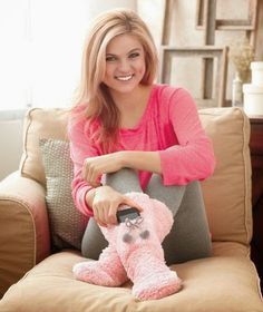 Snuggly, soft and warm slipper socks have a front pocket for holding your cell phone, keys or other little treasures. Soft and fuzzy, high-rise slipper socks ke Slipper Socks, Slippers, Ltd Commodities, Lakeside Collection, Fit Women, Shoes Sandals, Fashion Accessories, Pocket, Blog