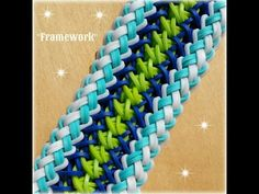 "▶ New ""Framework"" Rainbow Loom Bracelet How To Tutorial - YouTube"